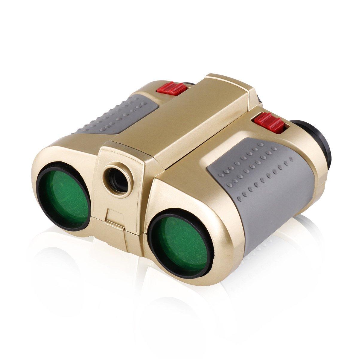 Freebily 4x30 Night Scope Binoculars Telescope with Pop-up Spotlight Fun Cool Toy Gift for Kids Boys Girls