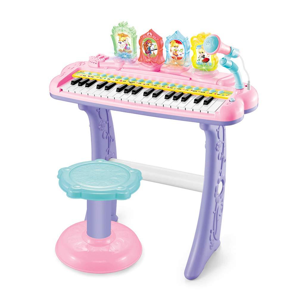 人気カラーの LINGLING-キーボード 多機能電子ピアノの男の子のおもちゃのピアノマイクピアノ Pink : (色 Pink) : Pink) Pink B07M9B6FND, 群馬町:4899e3cb --- 4x4.lt