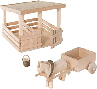 product image for Magic Cabin Woodland Stable and Accessories 9.7 L x 7.5 W x 7.5 H