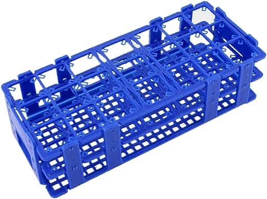TOOGOO sostenedor del estante de tubos de centrifuga de 50 ml de plastico de cajas de 21 agujeros azul: Amazon.es: Hogar