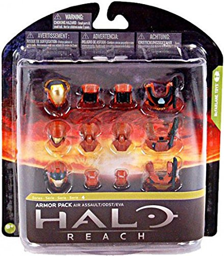 Halo Reach McFarlane Toys Series 4 Armor Pack Air Assault Armor 3 Sets of RUS...