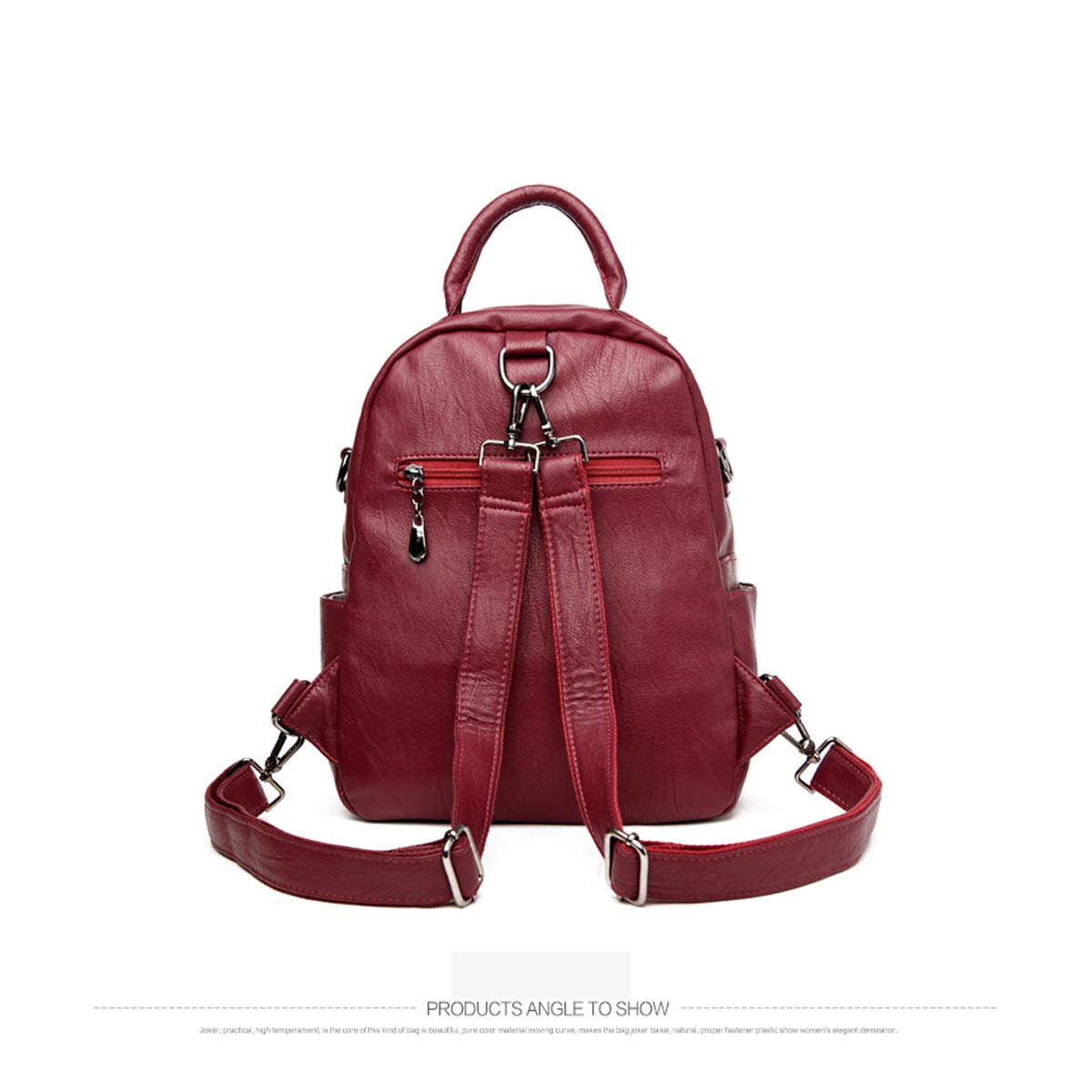 PU Leather ZHICHUANG Girls Multipurpose Backpack for Daily Travel//Outdoor//Travel//School//Work//Fashion//Leisure for Women /& Men Five Colors Generous and Simple