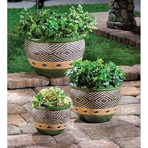 Jade Planters (Set of 3) by Home Locomotion