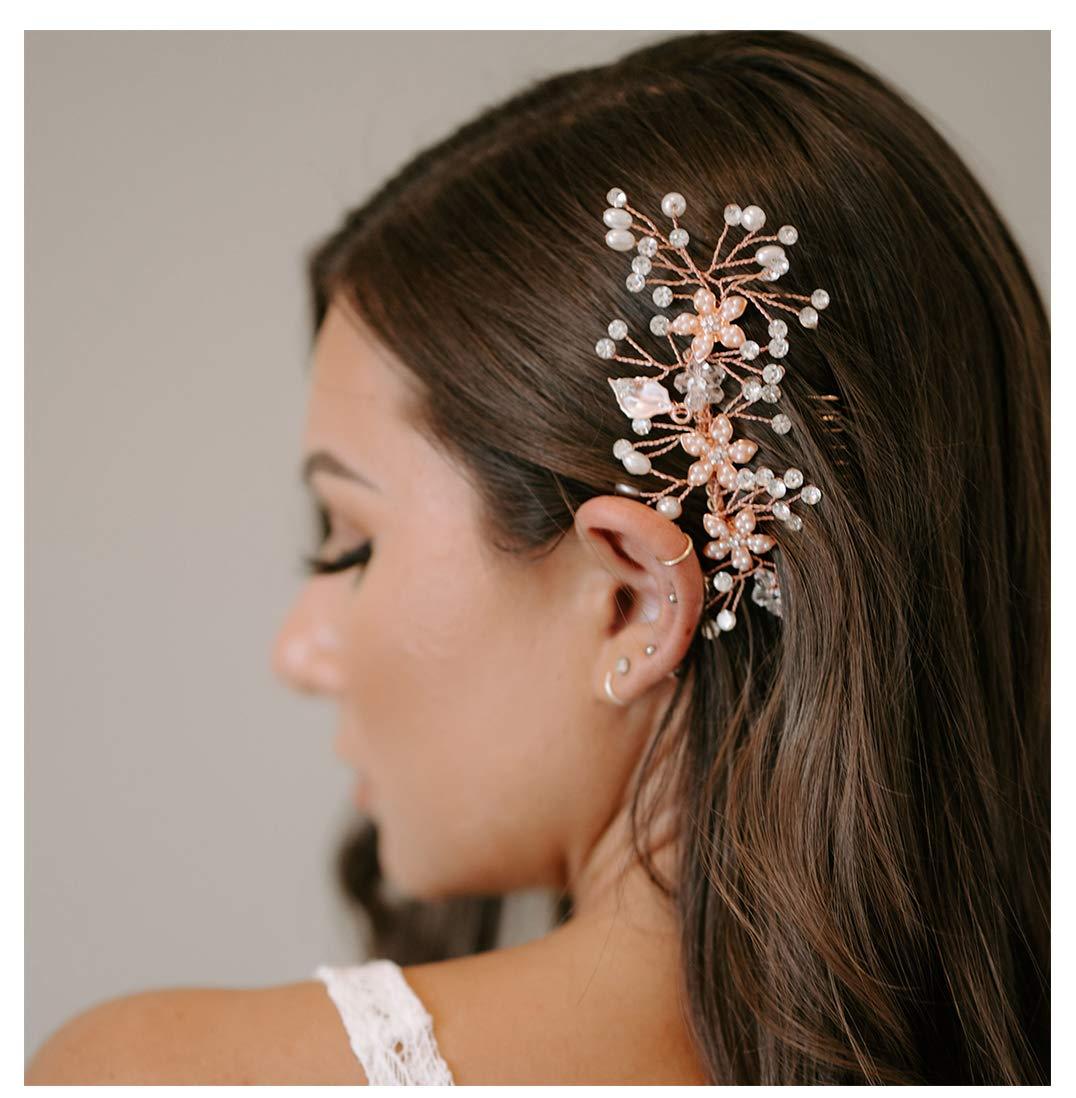 Rose Gold Hair Comb-Hair Accessories-Bridal Hair Accessories,Wedding Hair Accessories,Bridal Hair Comb,Bridal Hair Piece,Wedding Hair Comb