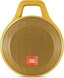 JBL Clip+ Speaker Bluetooth, Portatile, Ricaricabile a Prova di Spruzzi con Ingresso Aux-In, Microfono per Chiamate in Vivavoce, Compatibile con Smartphone/Tablet e Dispositivi MP3, Giallo