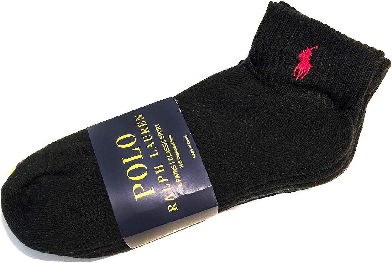 POLO RALPH LAUREN Mens 6pk Quarter Socks, SIZE 6-12: Amazon.es ...