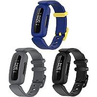 Chofit Vervangende bandjes compatibel met Fitbit Ace 3/Inspire 2 riem, zachte siliconen sport, flexibele polsbandjes…