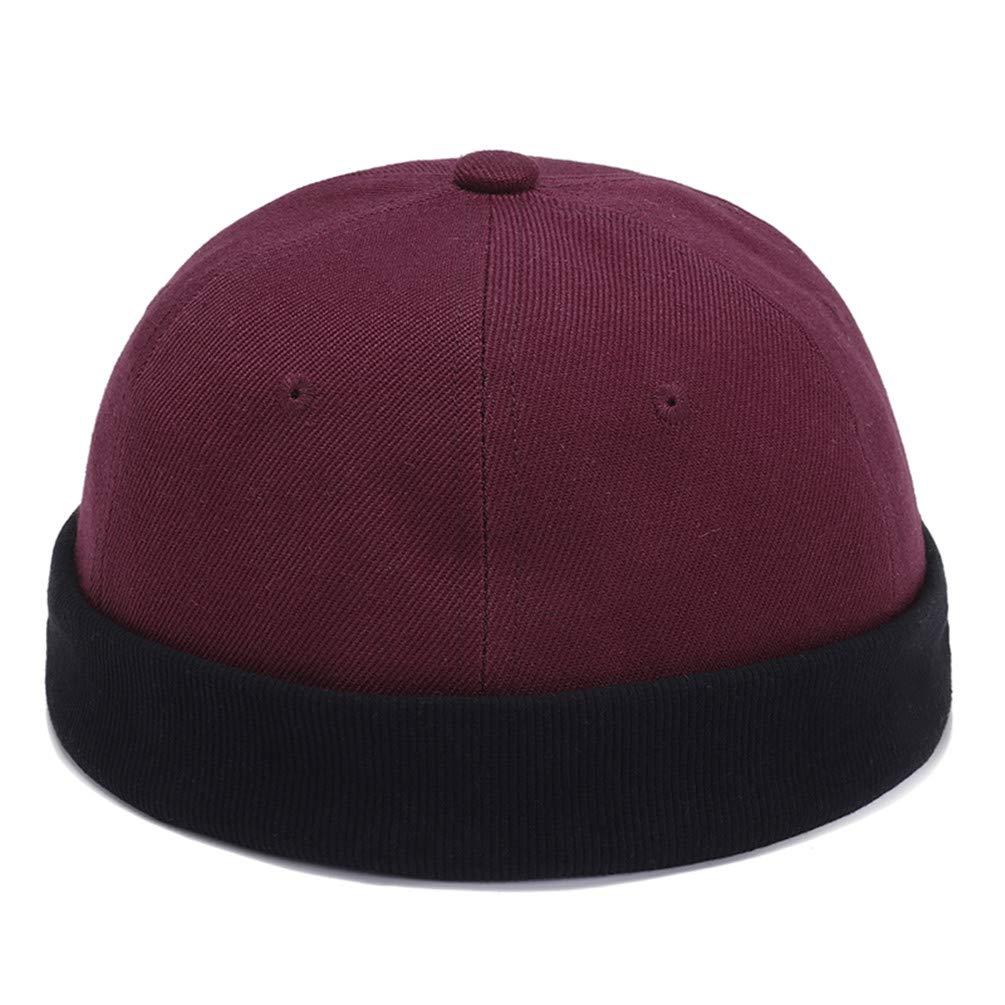 Retro Brimless Skull Caps Women Men Chinese Style Vintage Vogue Crimping Brimless Hats Beanie Hat
