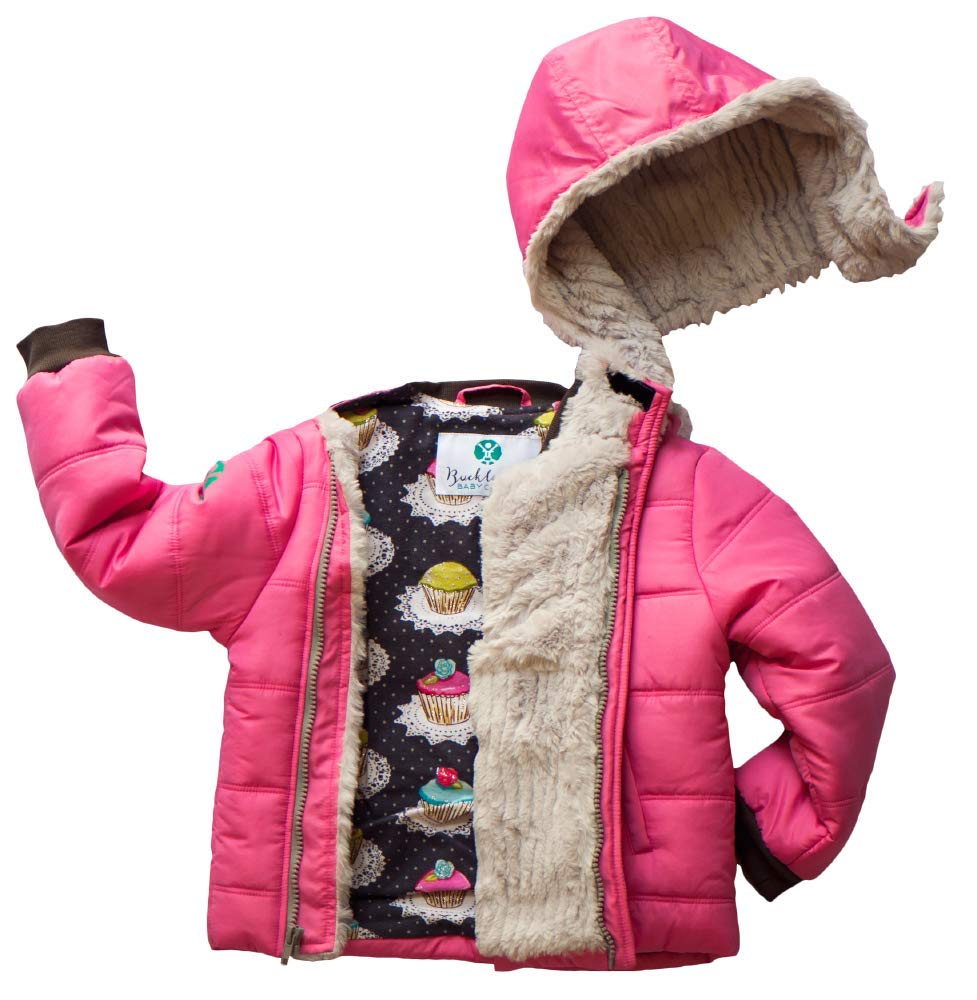 Buckle Me Baby Coats - Safest Car Seat Friendly Coat - Puffy Winter Jacket Alternative for Baby Toddler Boys Girls Kids Pink by Buckle Me Baby Coats