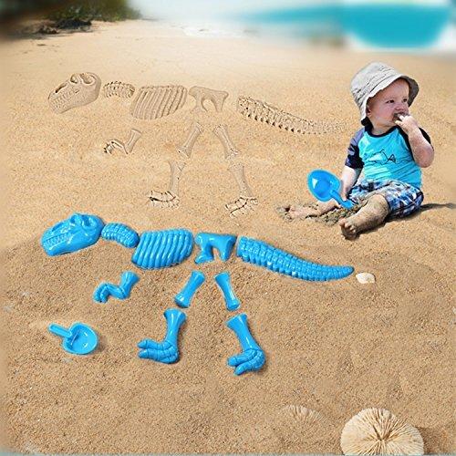 Baby Sandbeach Funny Sand Mold Set Dinosaur Skeleton Bones Beach Toy Children Boy Girl Kids Summer Toys (Alex Abc Zoo)