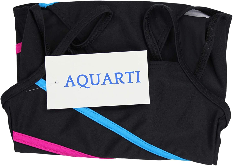 Aquarti Girls One Piece Swimsuit with Spaghetti Straps