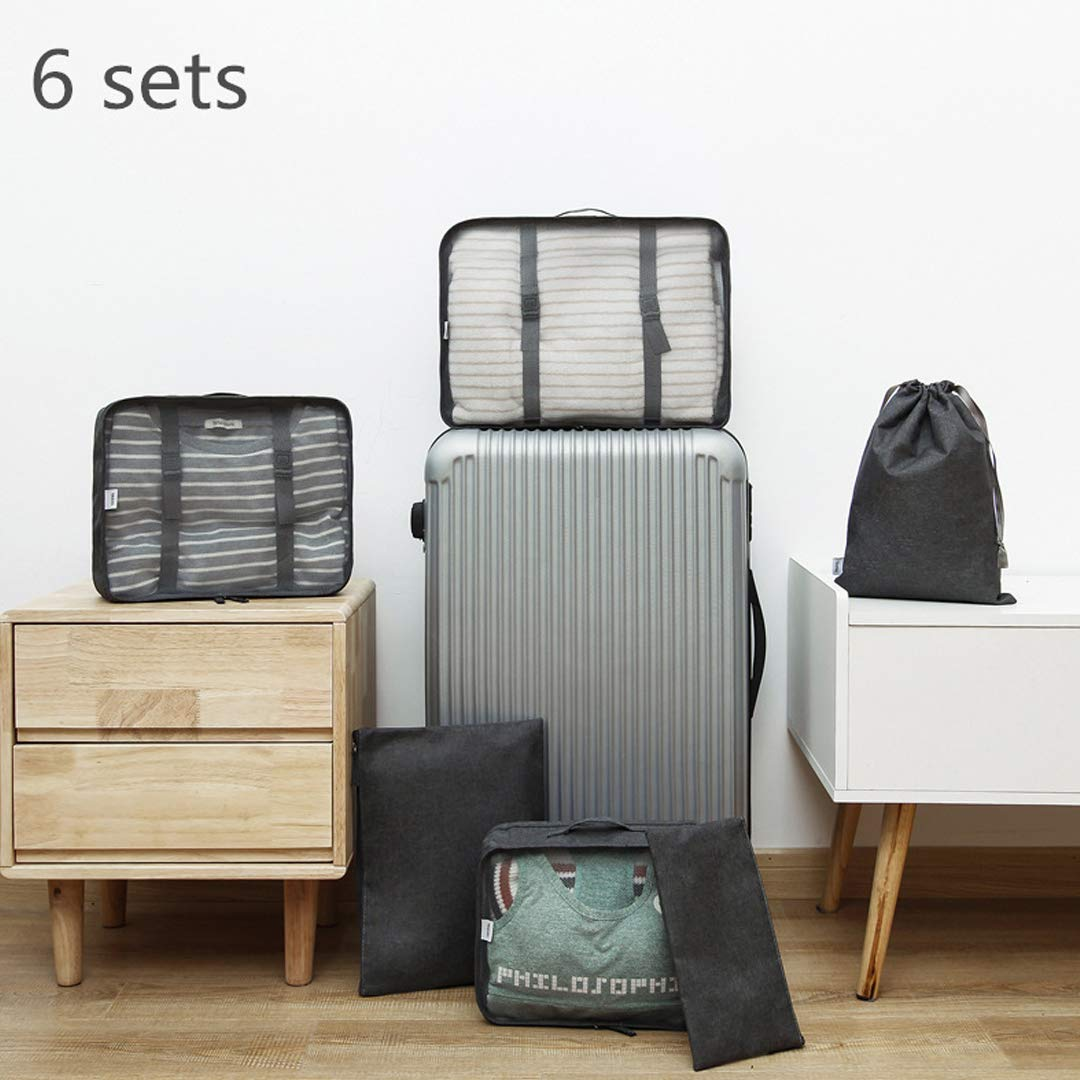 7418b5720a69 BEESCLOVER 6Pcs/Set Portable Clothing Sorting Organizer Travel Bags ...