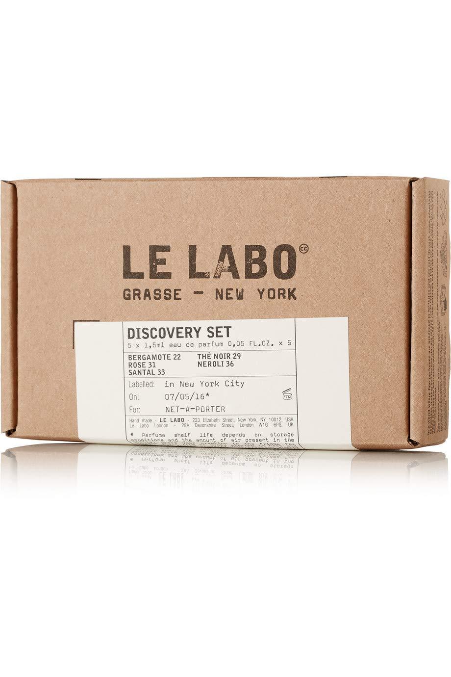 Le Labo Discovery Set Santal 33, Rose 31, Bergamote 22, Neroli 36 & The Noir 29 Sampler - .05 oz. Each by Le Labo