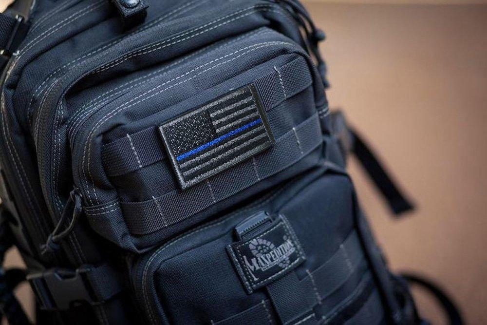 black TACVASENBundle 2 pieces-Tactical US Flag Embrodiered Patch
