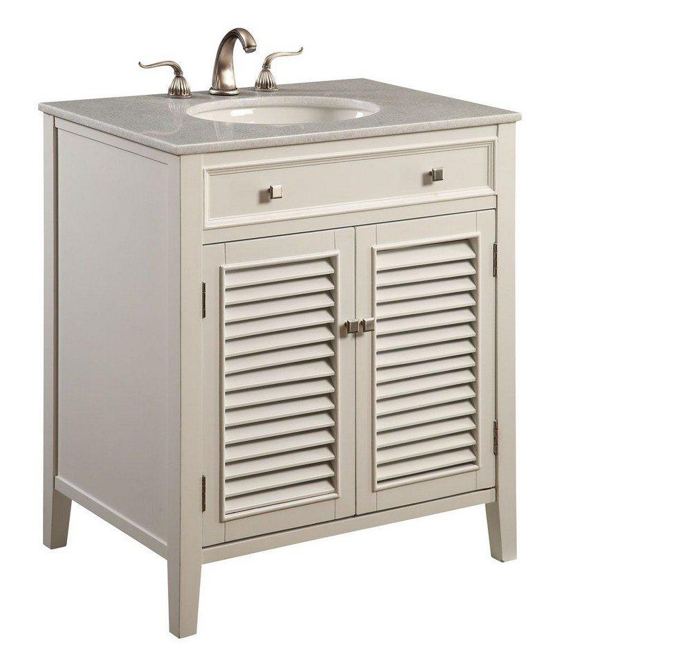 Elegant Lighting VF-1004 30'' 2 Door Vanity Cabinet, White Finish