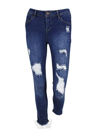 new appearance discount up to 60% half off Tinseltown Denim Couture Juniors Ripped Jeans (3, Dark Wash ...