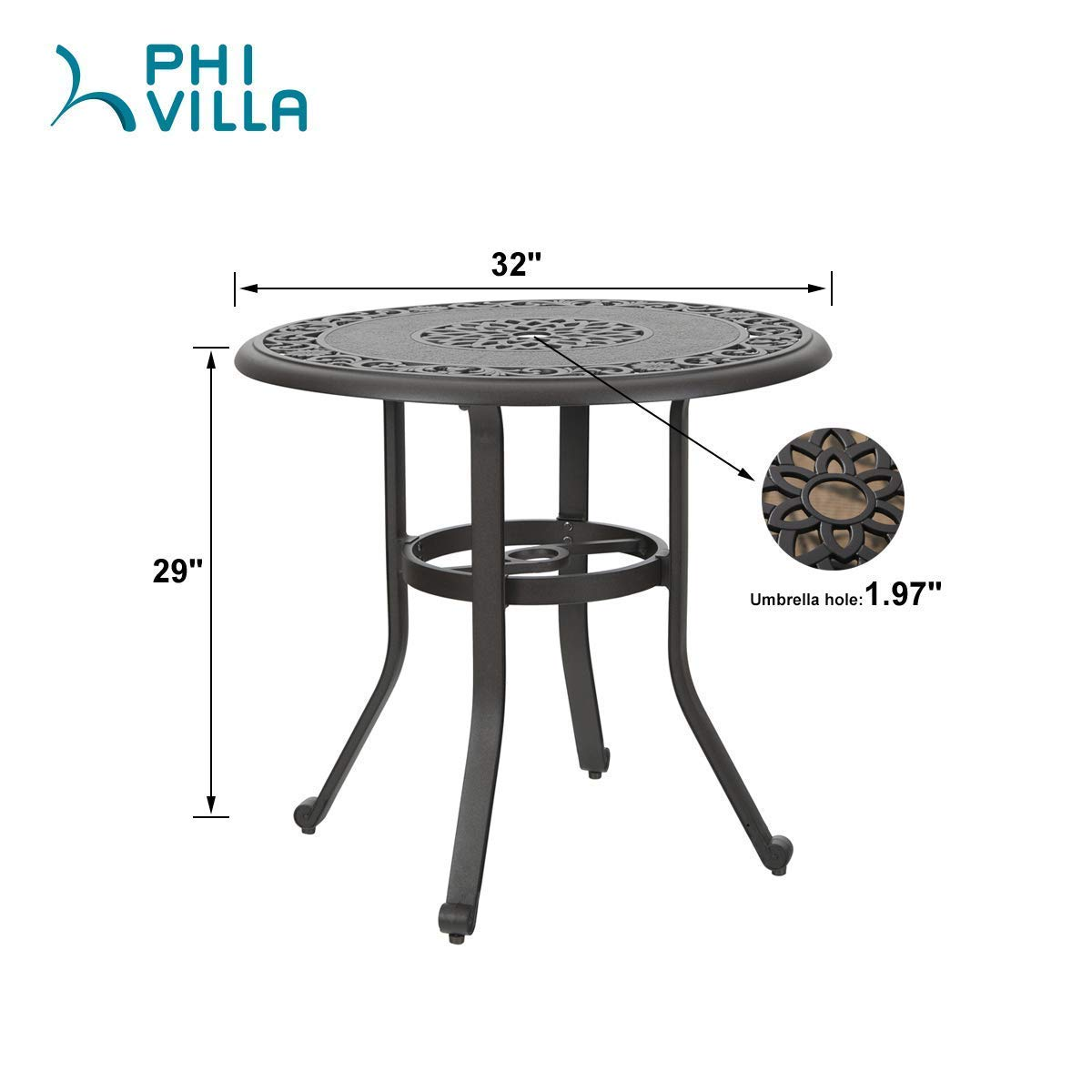 Patio, Lawn & Garden Dining Tables ghdonat.com 41.3 Round Table ...