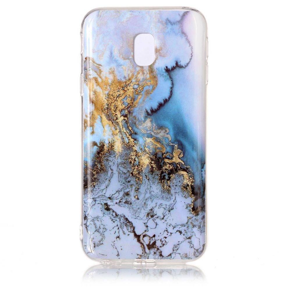 Funda para Samsung Galaxy J7 2017 C/áscara Flexible Suave Gel TPU Funda Protectora de Silicona Delgado Ajuste a Prueba de Golpes con Patr/ón de M/ármol Solaxi G