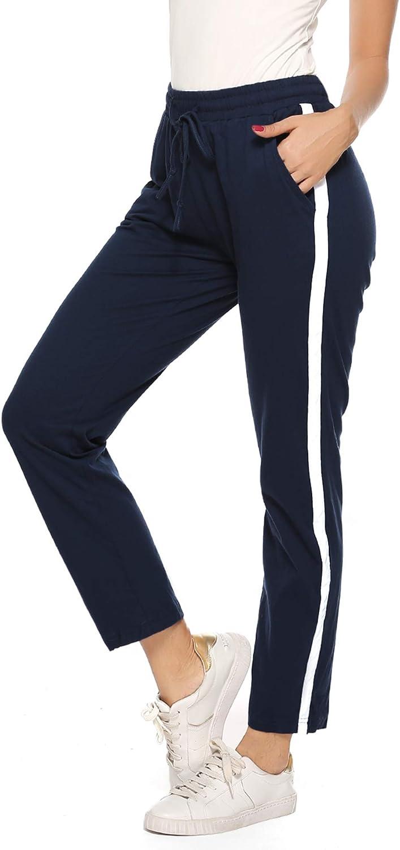 Damen Klassische Sporthose Freizeit Jogging Trainings Hose Baumwolle Fitness