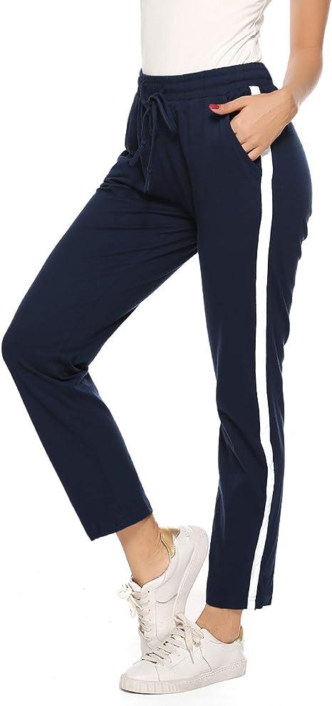 Hawiton Pantalones Deportivos para Mujer 100% Algodón Pantalón ...