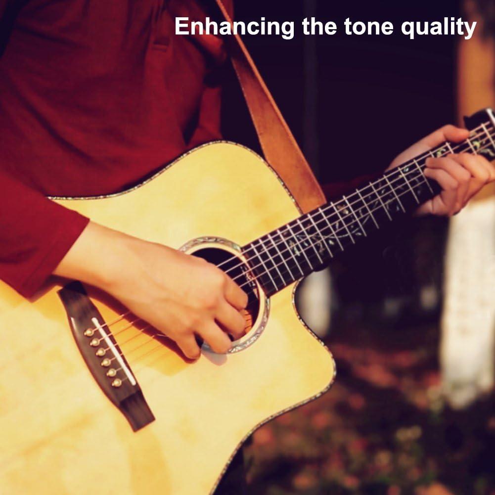 Guitare /électrique laiton Guitare acoustique Pont End Pin pour ukul/él/é guitare acoustique et guitare Western basse Dilwe Guitare Lot de 6/broches