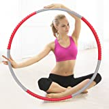 CUSFULL Weighted Hula Hoop 2.3 lbs for Fitness, Exercise, Weight Loss-Premium NBR Foam Surface Detachable Hoop for Adults and Kids
