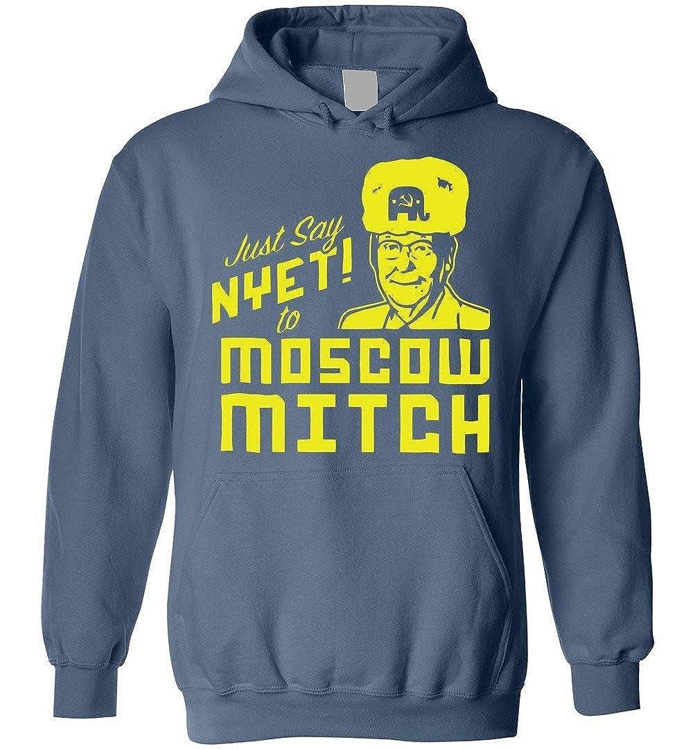 TSHIRTAMAZING Just Say NYET to Moscow Mitch Blend Hoodie Indigo Blue