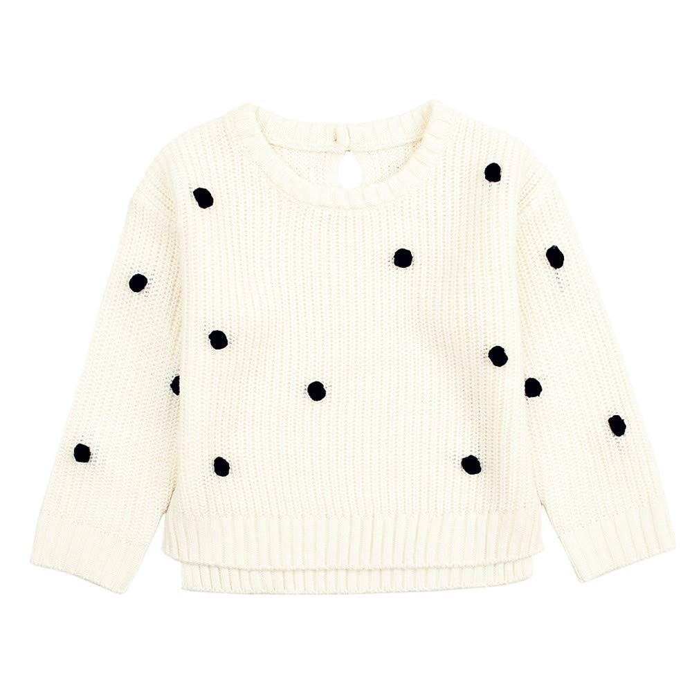 Amaone Baby Sweater Girls Boys for 6-24Months Warm Wave Point Newborn Pullovers Knitwear for Unisex Kids Children Toddler Tops Clothes