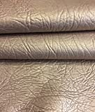 Craft Real Leather Hide – Top Quality Lambskin - Dark Champagne Color - 4 sq ft - 2 oz. avg Thickness - Pearlescent Finish – Spanish Full Skins – Soft Thin Upholstery Fabric – Home Décor Material