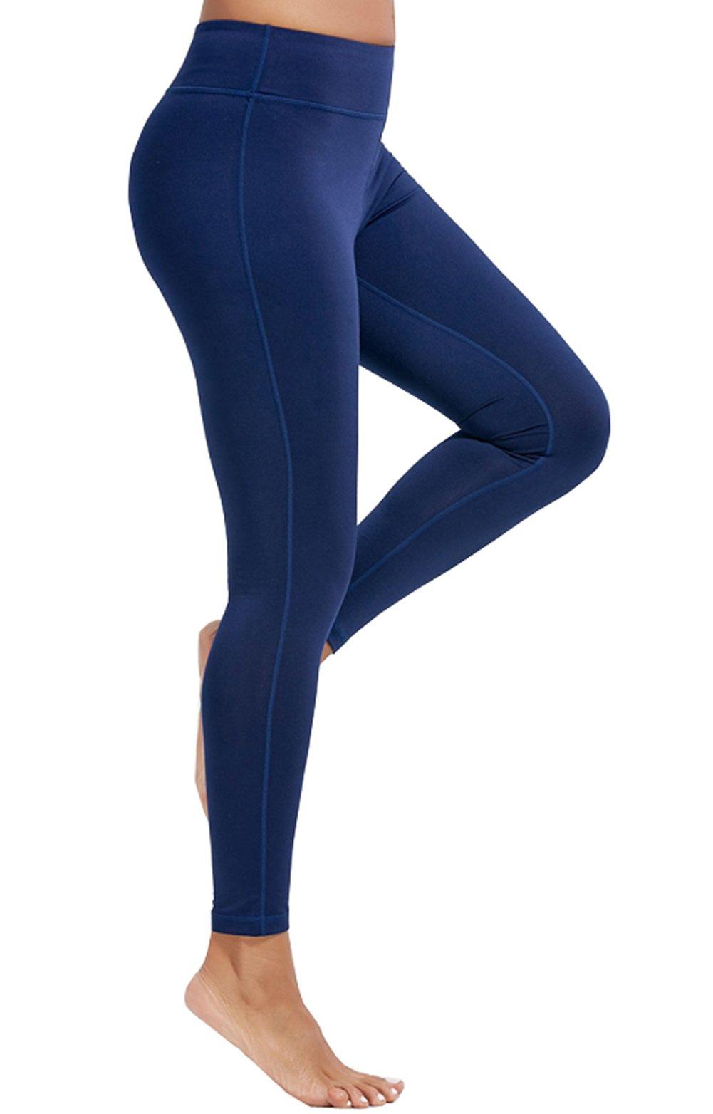 e657bfa326c26 Olacia Womens High Waisted Workout Leggings Running Pants Tummy ...