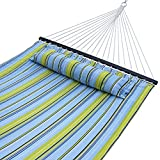 Leave your work, Kick your shoes off and relax in the sun or shade to enjoy precious leisure time, this ZENY Double Cotton Qulited Hammock meets your needs!  Feaatures Heavy-Duty Design provides durable construction to support weight capacity up to 4...