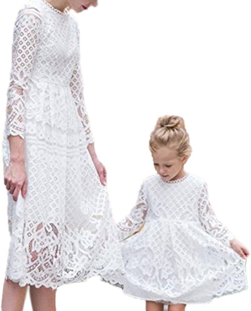 Vestido de Encaje de Madre e Hija con Vestido Vestido de Verano de ...