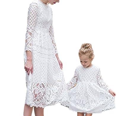 Keephen Mutter Baby Spitzenkleid Mama Und Tochter Mit Kleid