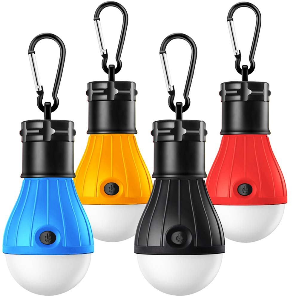 Camping Lights Tent Lights With Carabiner Clips Waterproof Portable Battery Operated Emergency Tent Led Light Bulb