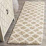 """Safavieh SGD258D-28 Dallas Shag Collection and Ivory Runner, 2'3"""" x 8', Beige"""
