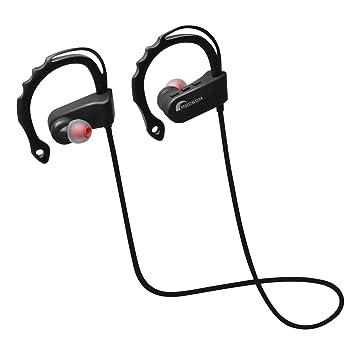 Moobom Sport Auriculares inalámbricos, V4.1 In-Ear Impermeable Bluetooth Auriculares con APT