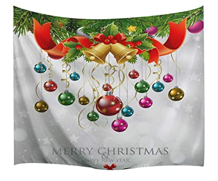 Christmas Decorations Tapestry Wall Hanging By Imei 3d Santa Claus Print Fabric Holiday Wall Art Hanging For Living Room Office Dorm And Bedroom 90
