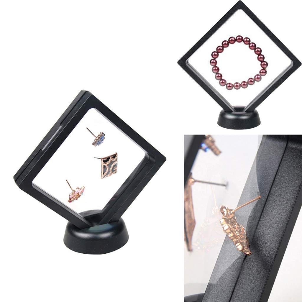 KESOTO 4X 3D Support de Bijoux Caisse en Membrane et Plastique Pet pour Objets de Collection Pi/èce de Monnaie Cadre dAffichage