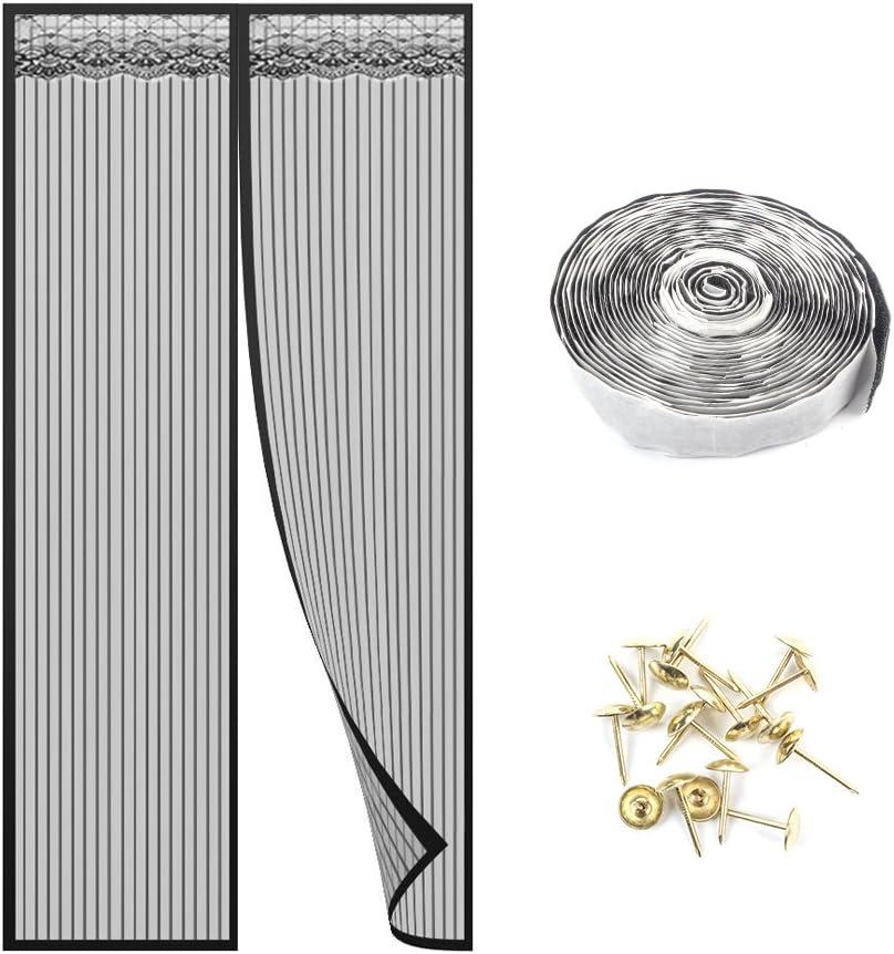 CHENG Insektenschutz balkont/ür 145x205cm f/ür Flure//T/üren Wei/ß Full Frame Klettverschluss Insektenschutz T/ür mit Klettband Klebemontage Ohne Bohren