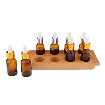 Gazechimp Montessori Material para Degustación Ejercicio con Bandeja 8 Botellas Goteros Sensoriales Juguete Educativo para Niños