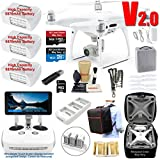DJI Phantom 4 PRO PLUS V2.0 (PRO+ V2) Drone Quadcopter (Remote W/Integrated Touch Screen Display) Bundle Kit with 3 Batteries, 4K Professional Camera Gimbal and MUST HAVE Accessories