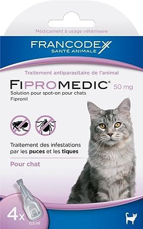 Francodex - Fiproline para gatos, 4 pipetas: Amazon.es: Productos para mascotas