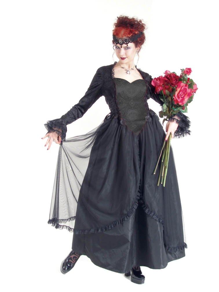 Eternal Love Plus Size Black Gothic Sacred Heart Belle Dame Wedding Gown Dress (2X)