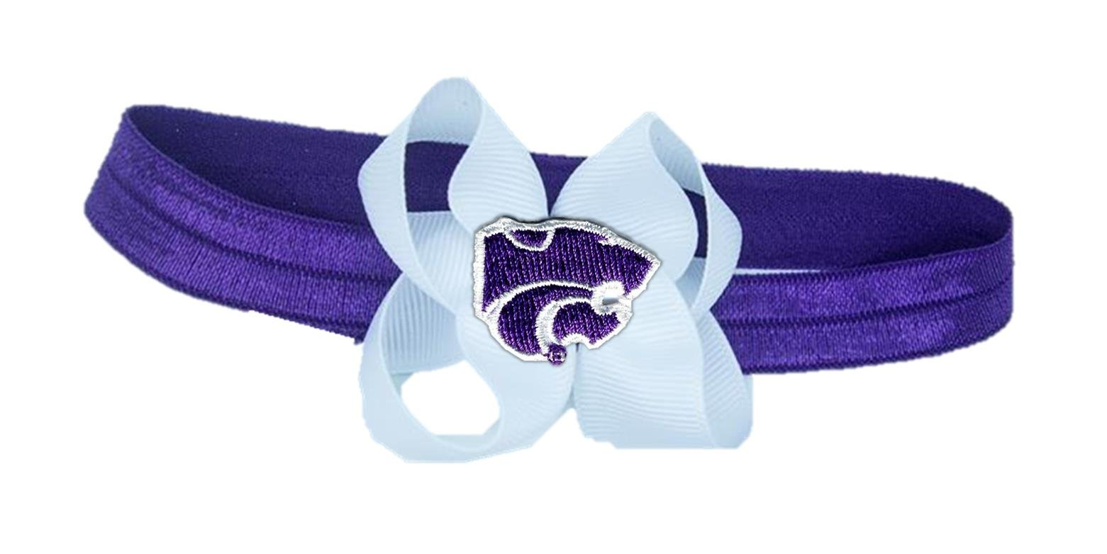 Divine Creations K State Stretch Baby Headband, Purple/White, One Size