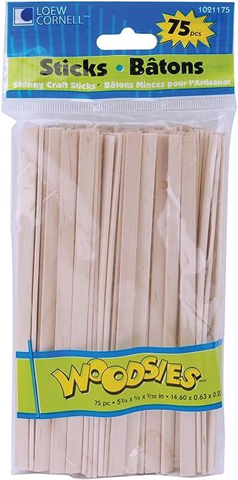 Loew-Cornell Woodsies Skinny Craft Sticks