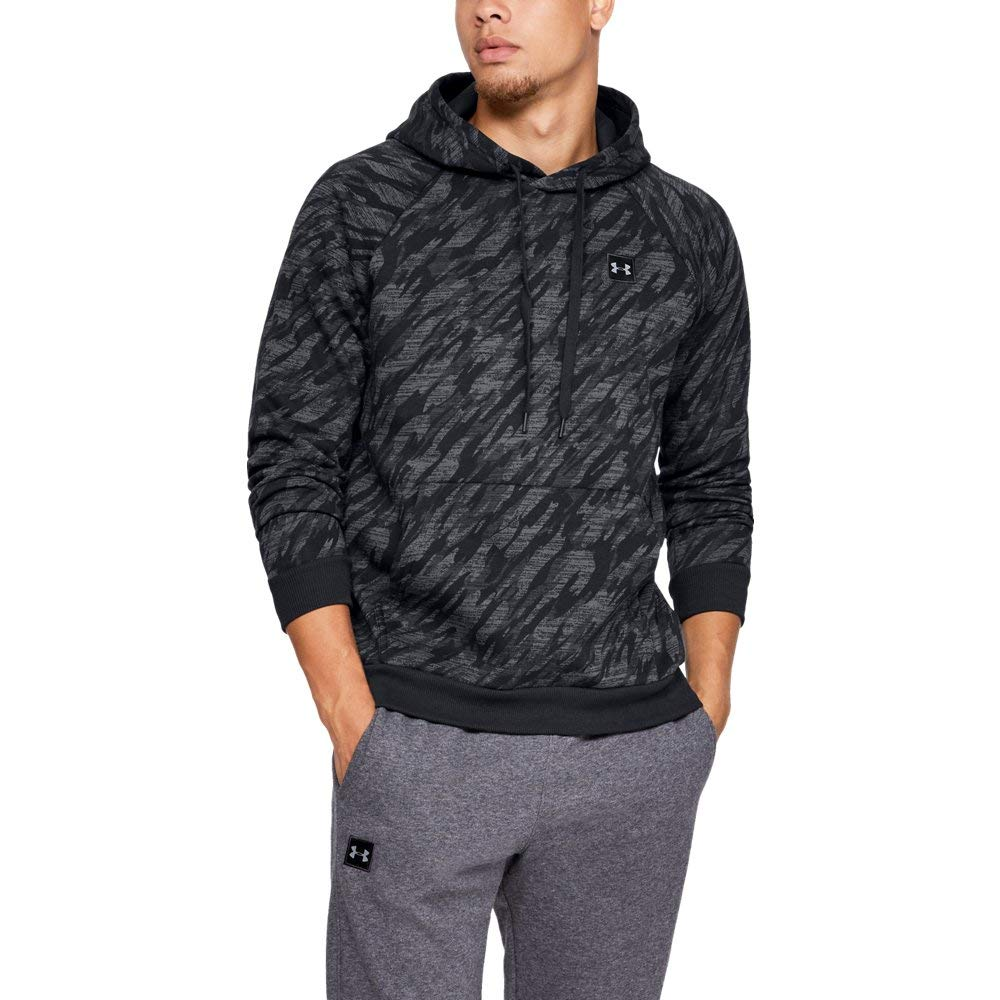 Under Armour Men's Rival Fleece Camo Hoody, Black (001)/Black, Large by Under Armour