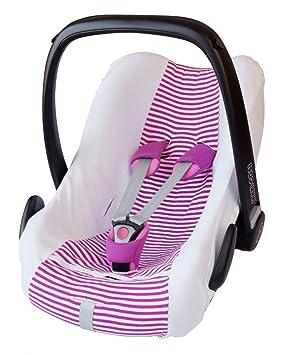 ByBoom® – Funda de verano de protección, 100% de algodón, funda universal para capazo o silla de coche (por ejemplo, Maxi-Cosi CabrioFix, Pebble, City ...