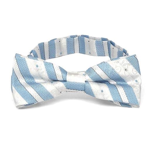 TieMart Red Douglas Stripe Diamond Tip Bow Tie