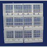 "Small Breeding Cages With Dividers, Pack of 6, 24 x 16 x 16""H inches, White"