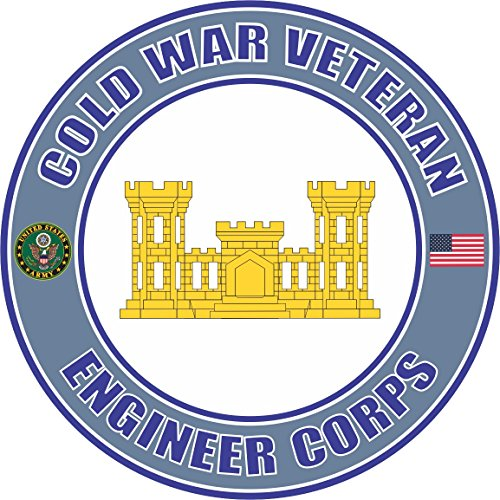 Military Vet Shop U.S. Army Cold War Engineer Corps Veteran Window Bumper Sticker Decal 3.8
